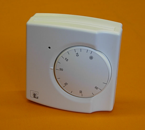 BI METALLIC 24/240v DUAL VOLTAGE ROOM THERMOSTAT  (+5°C~+35°C) SPST