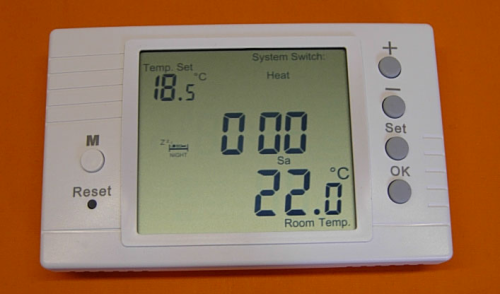 LARGE LCD PROGRAMMABLE ROOM THERMOSTAT VOLT FREE 16 AMP