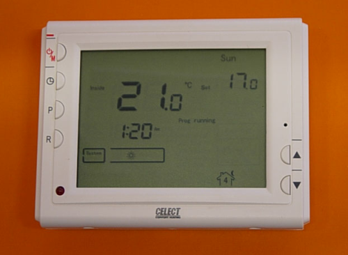 FLAT SCREEN LCD PROGRAMMABLE ROOM THERMOSTAT VOLT FREE